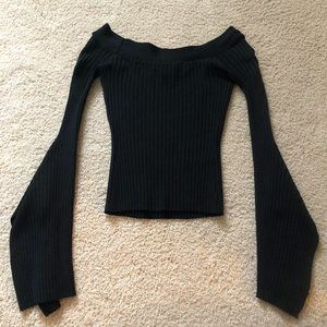 Long Sleeve Black Top by BCBGMaxAzria